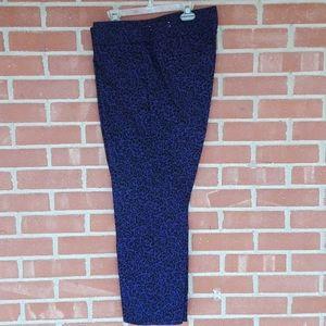 NWOT Loft floral print purple slacks size 12